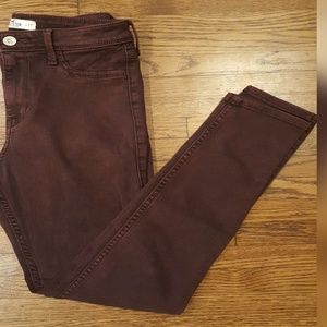Hollister burgundy Midrise Skinny Jeans Size 5 27